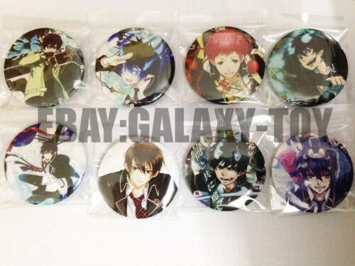 Blue Exorcist 4.3 CM 8x LOTS PIN back BADGES BUTTONS NEW PARTY BAG GIFT CLOTH