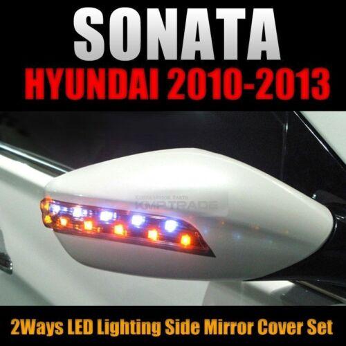 i45 2Way LED Side mirror Cover Set L+R Black For HYUNDAI 2011-2014 YF Sonata