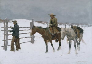 Frederic-Remington-The-Fall-of-the-Cowboy-Giclee-Canvas-Print-Poster