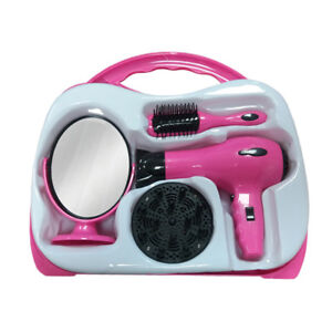Childrens-Toy-Hair-Dryer-Stylist-Hairdresser-Role-Play-Set-Hard-Carry-Case-TY124