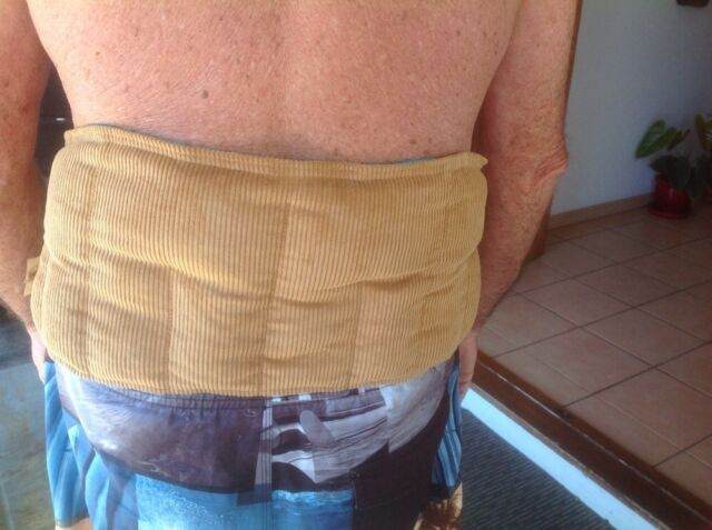 Heat / Wheat Bag for Lower Back - adjustable - pain relief