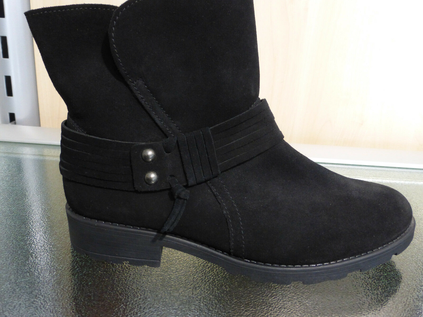 Zapatos especiales con descuento Gabor Damenwinterstiefel schwarz Velourleder RV Lammfell 93.721.37 Sonderpreis!