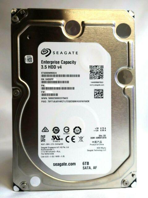 Disco Duro Interno de 6 TB Seagate ST6000NM0024 SATA III, 3.5