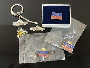 Ford-Lapel-Pin-Lot-With-Key-Chain-Ford-Motor-Company