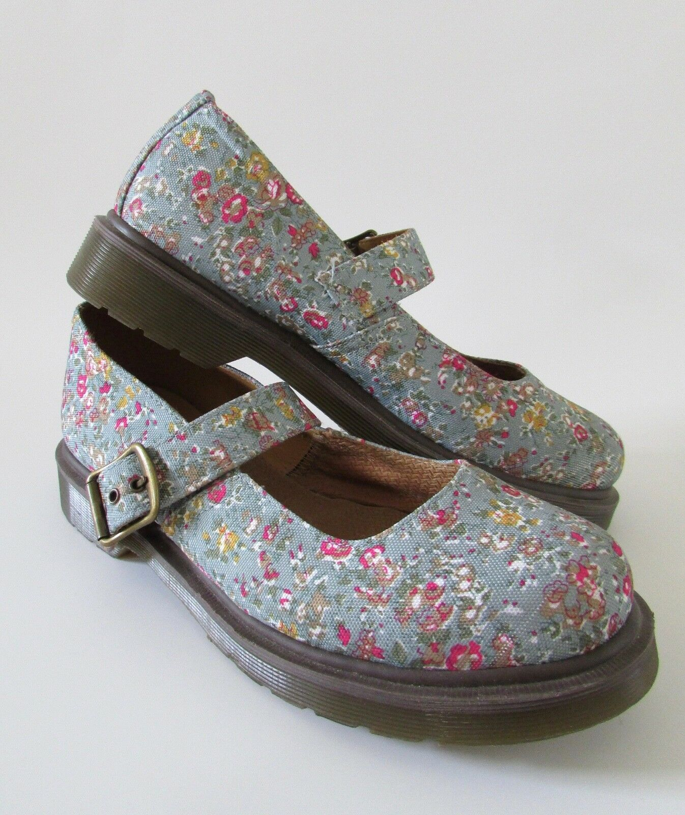 Senza tasse NEW NEW NEW DR MARTENS  Mary  AW004 blu Floral Canvas Mary Janes US 9  Miglior prezzo
