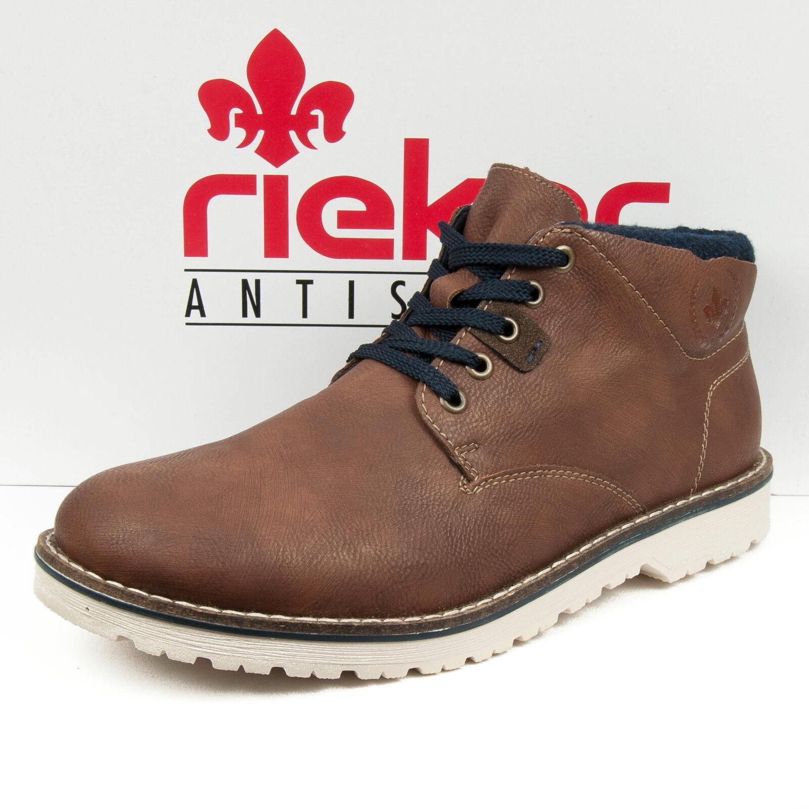Rieker CABALLERO zapatos botas schnürbotas fleecefutter marrón combinado 39234-24
