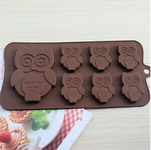 Cake Art Candy Molds : Cake Mold Soap Mold 7-Owl Bird Flexible Silicone Mould For ...