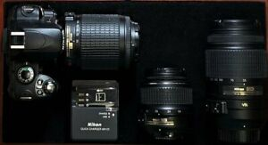 Nikon-D40X-Digital-SLR-Camera-with-3-lenses-and-a-battery-Charger