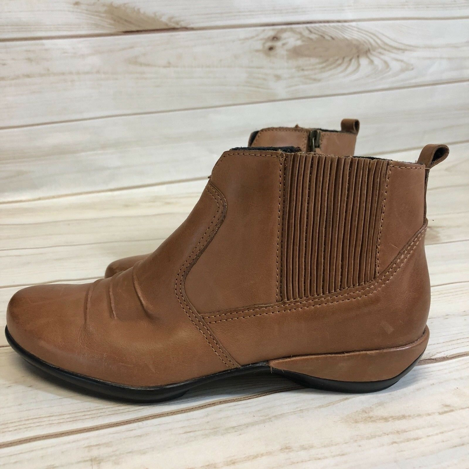 Aetrex Kailey Kailey Kailey Cognac Ankle Stiefel damen's 5B EUC Leather Free Shipping 9a061b