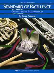 "CoopéRative Kjos ""standard Of Excellence"" Music Book 2 Baritone T.c. Brand New Band On Sale! ModèLes à La Mode"