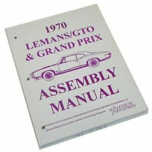1970-Pontiac-GTO-Lemans-Tempest-Judge-Factory-Assembly-Manual-Book