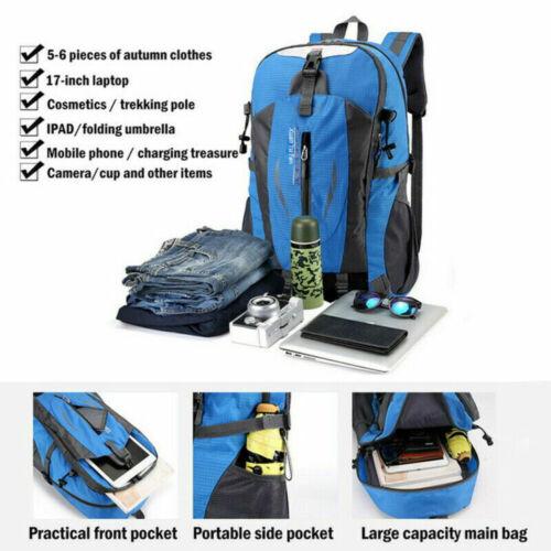 40L Waterproof Outdoor Sport Hiking Camping Travel Backpack Daypack Rucksack Bag