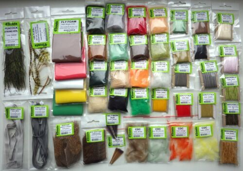 Angelsport-Köder, -Futtermittel & -Fliegen DRY FLY TYING HUGE KIT Fly tying material hooks threads for bug emergers dry fly Angelsport-Fliegen-Bindematerialien