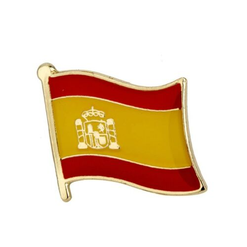 Spain Spanish Espana Flag Metal Country Madrid Barcelona Enamel Lapel Pin Badge