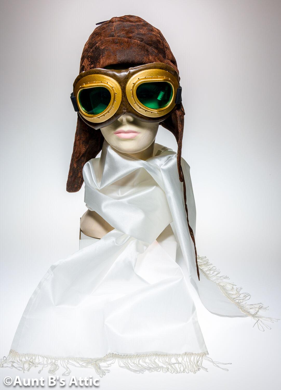 Flieger Kostüm Satz Aviator Helm Helm Helm Weiß Schal & Brille Steampunk Zubehör  | New Product 2019  | Sehr gute Farbe  | Internationale Wahl  | Konzentrieren Sie sich auf das Babyleben  | Viele Stile  4301dd