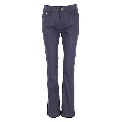 Womens Stretch Straight Leg Jeans Ladies Denim Pants Trouser Bottom Size 10-18