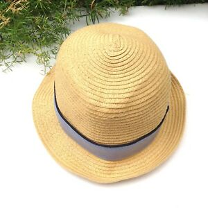f069b4b1020 SALE THE ORIGINAL PENGUIN MUNSINGWEAR Blue Tan Straw Fedora Hat Mens ...
