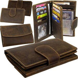 L-amp-B-Damen-Brieftasche-Geldboerse-Portemonnaie-Hunter-Leder-Geldbeutel-Geldtasche
