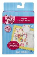 Baby Alive Doll Diapers Refill 6 Pack Disposable Baby Diapers