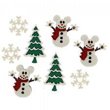 Mickey Snowmen - Dress It Up Disney Christmas Buttons, scrapbook, craft