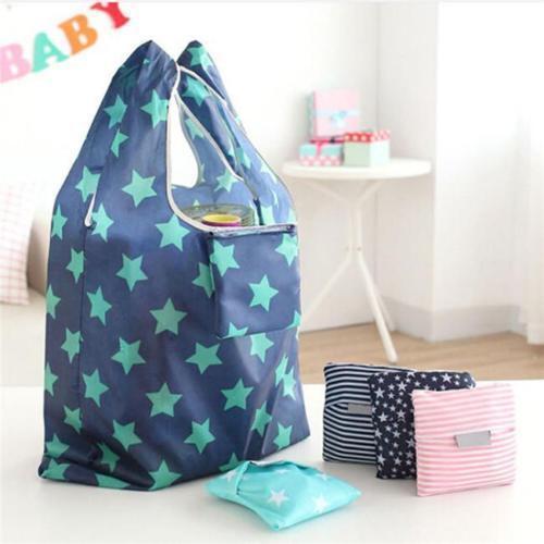 6 Colors Handbag Cute Lady Shopping Bag Foldable Oxford Cloth Reusable Storage