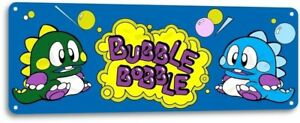 Bubble-Bobble-Classic-Arcade-Marquee-Game-Room-Man-Cave-Decor-Metal-Tin-Sign