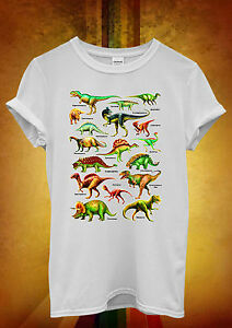 Dinosaurs-Names-Kinds-Funny-Novelty-Men-Women-Unisex-T-Shirt-Tank-Top-Vest-1267
