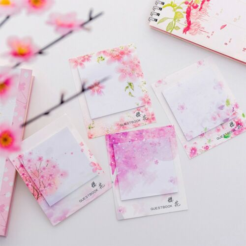 Kawaii Cherry blossoms Sticky Notes Stationery Notepads Memo Pad c