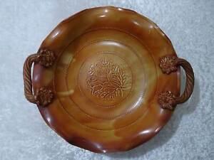 Ceramique-Design-Bol-Decoratif-Braun-Style-Maison-de-Campagne