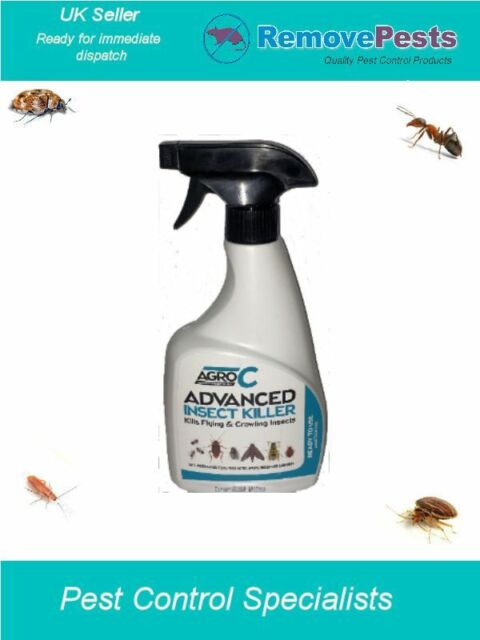 Silverfish Poison killer spray expert pest control treatment AGRO 500ML