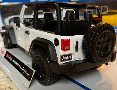 2014 Jeep Wrangler 4x4 Topless Maisto 1:18 Scale Diecast Model Car New in Box