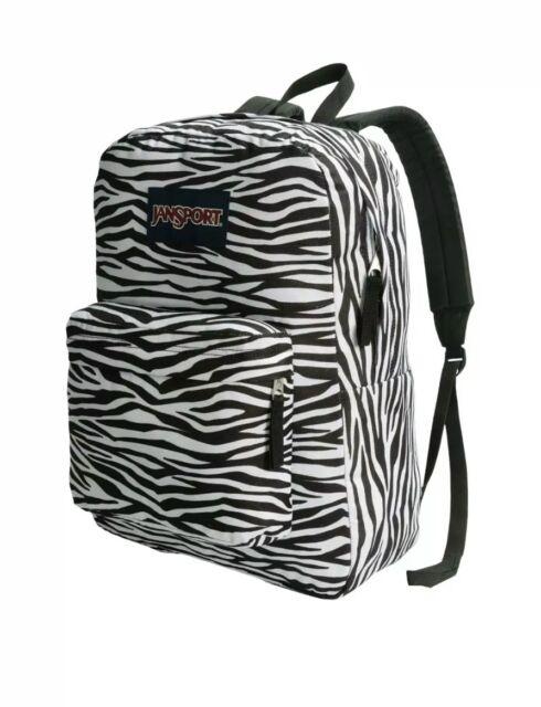 30261b5bc0 NEW JANSPORT Black White Zebra SUPERBREAK Canvas BACKPACK SCHOOL BOOK BAG