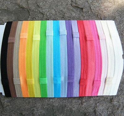 Good 10X/lot 1.5cm Shiny Elastic Kids Baby Girls Hair Bands Colors Random EFUS01