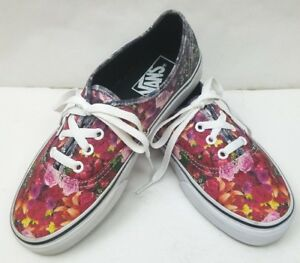 eeaebfeb0771a1 Rare Vans Women s Multicolor Flower Floral Digital Print Shoes ...