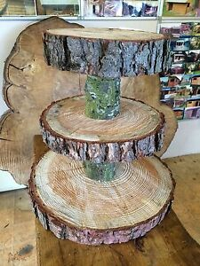 rustic wooden wedding cake stand uk three tiered rustic wooden wedding cake cup cake stand 19595