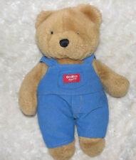 VINTAGE EDEN STUFFED PLUSH BROWN TEDDY BEAR BLUE CORDUROY OSHKOSH B'GOSH OVERALL