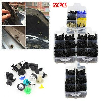 650Pcs 4 Layers Car Door Bumper Trunk Fender Retainer Push Rivet Fastener Clips