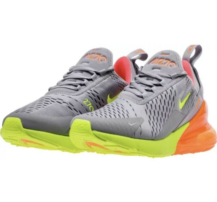 Nike Air Max 270 Running shoes Atmosphere Grey Volt Men's Size 11 AH8050-012