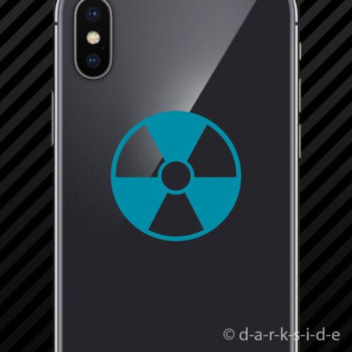 Radioactive Symbol Cell Phone Sticker Mobile radiation 2x