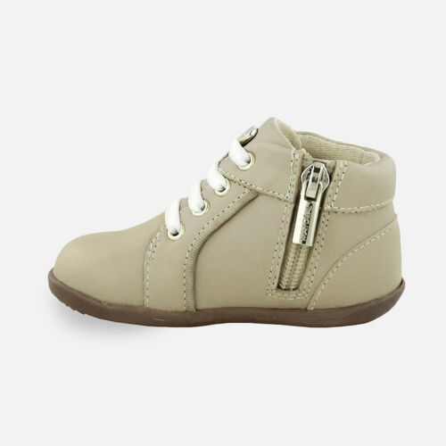 Mayoral Infant Girls Napa Leather Boots in Nude 42714