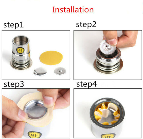 1pc Fabric Covered Round Shape Top Button Mold Tool Crafts Press Die Multi-sizes