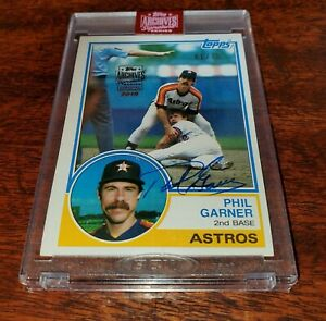 PHIL-GARNER-AUTO-ON-CARD-SP-75-2019-TOPPS-ARCHIVES-SIGNATURE-SERIES-ASTROS