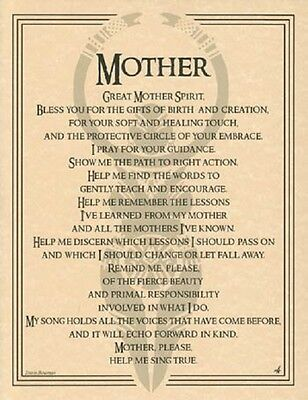 "Great Mother Evocation Parchment Poster  8 1/2"" by 11"""