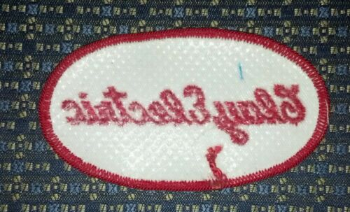 """CLAY ELECTRIC Iron or Sew-On PATCH 3.5/"""" X 2/"""""""