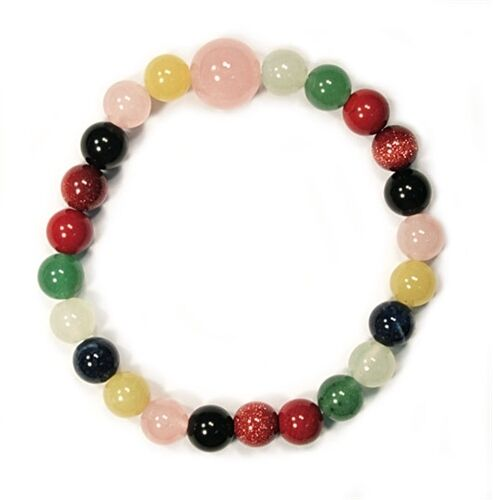 Bracelet 8 mm Bead Multi-stones