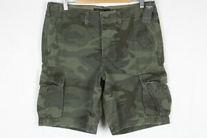 New-Abercrombie-Men-039-s-Cargo-Short-ButtonFly-30-31-or-36-Camo-128-283-0763-378