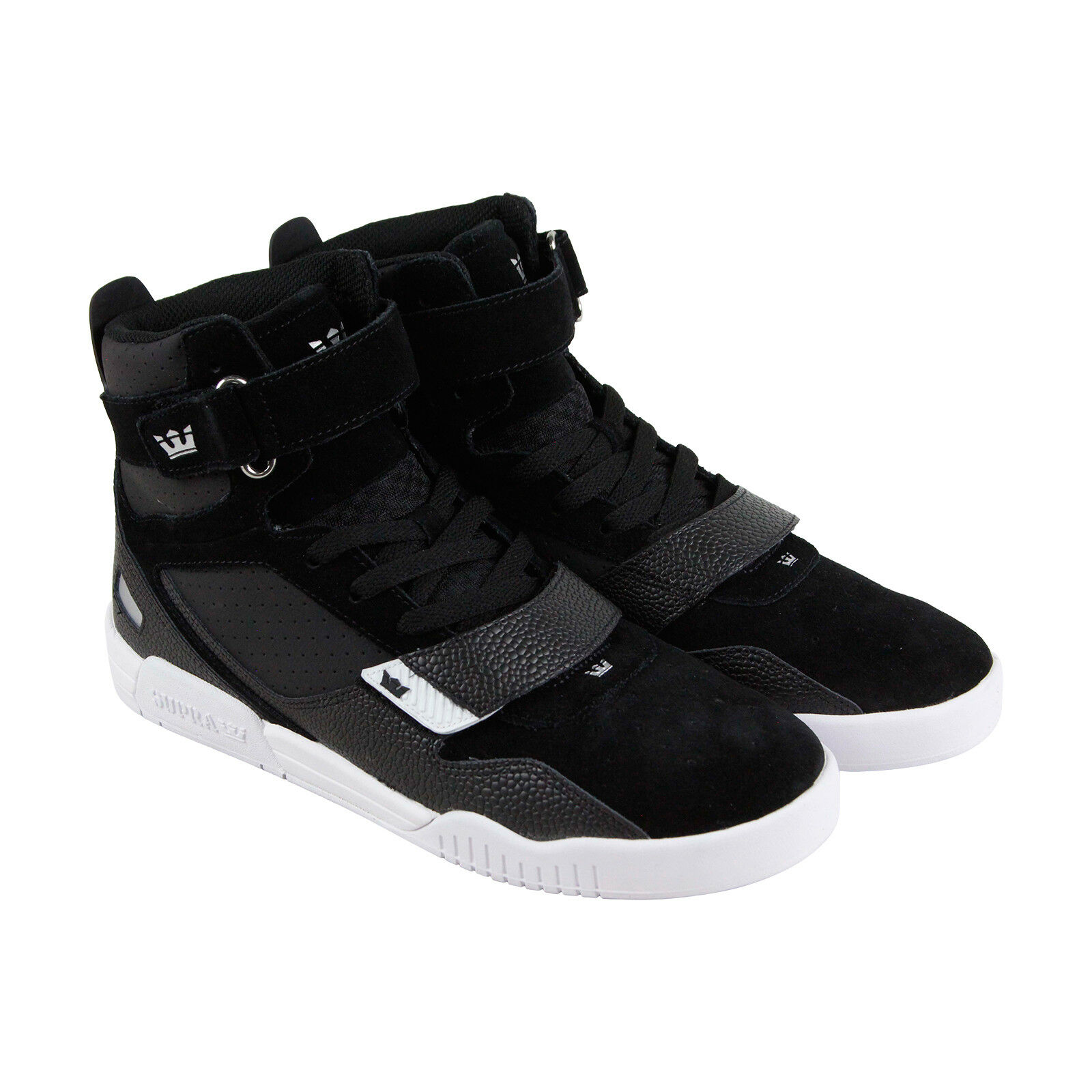 Supra Breaker Mens Black Suede High Top Strap Sneakers shoes