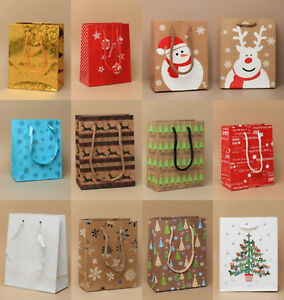 Pack Of 6 Small Christmas Gift Bags Xmas Present Gift Bag Gift Packaging Ebay