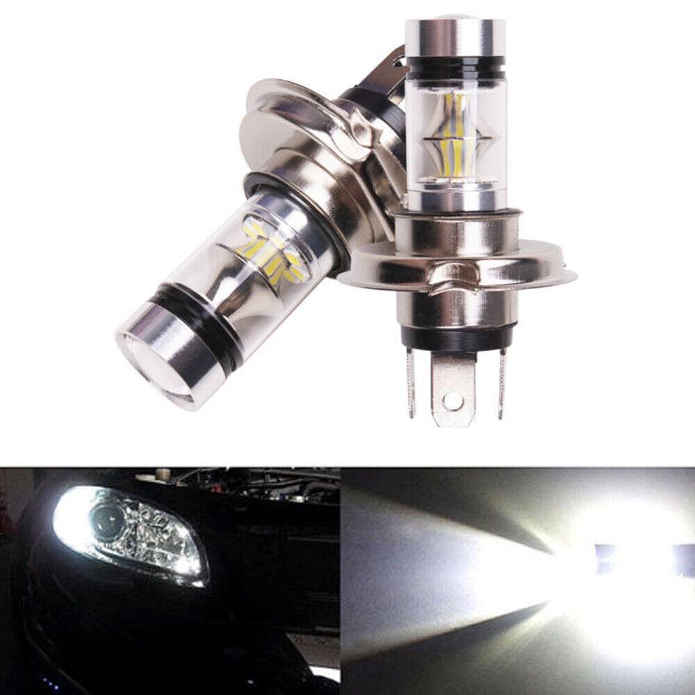 2X H4 9003 HB2 100W 8000K Hi//Lo Beam LED Car Headlight Fog Light DRL Lamp White