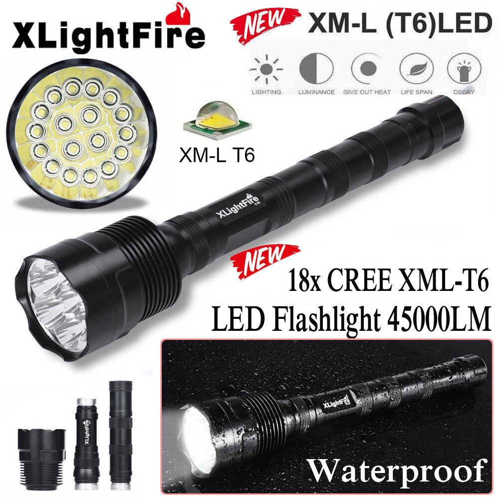XLightFire 4-18x XML T6 5 Mode 18650 Super Bright LED Flashlight Hiking Light yl